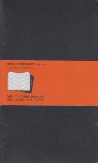 Moleskine Notebook - set of 3 ruled journals