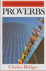 Proverbs - Geneva Series of Commentaries